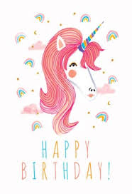 free birthday card unicorn rainbows free birthday card greetings island
