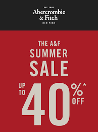 abercrombie fitch summer sale from 8 14 jun 2016