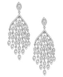 diamond chandelier earrings diamond chandelier earrings in 14k white gold 1 ct t w