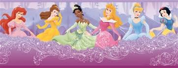 Princess Prepasted Wallpaper Border Borders Growth Charts And - Wall borders for kids rooms