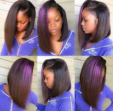 bob sew in hairstyle side part bob sew in hair slayed slayyed black hair