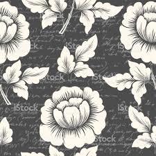 flowers seamless pattern element vector background vector flower seamless pattern element with ancient text elegant