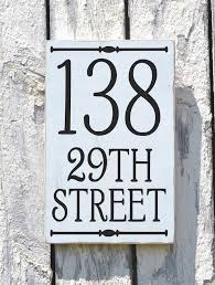address plaque outdoor house numbers sign vertical porch