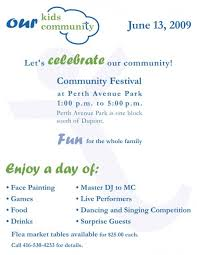 poster for 2009 perth ave community festival