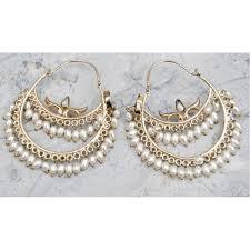 pearl hoop earrings diamonds studded pearl hoop earrings