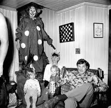 these creepy vintage photographs of clowns will give you