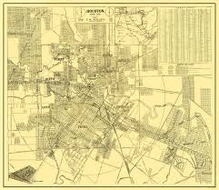 United States Street Map by Old City Map Houston Texas Street Guide 1913