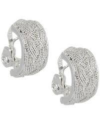 silver clip on earrings clip earrings bealls florida