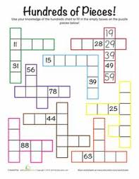 hundreds chart pieces puzzle i did these with my 2nd graders and