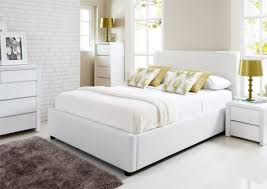 White Leather Ottoman Find Your Lost Peace Of Night With White Beds Camilleinteriors Com