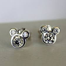 mickey mouse earrings 2015 disney pandora dazzling mickey mouse sparkling earrings