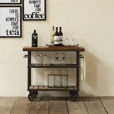 american iron wood drinks trolley diner fashion creative mobile