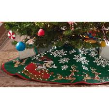 mickey mouse oh what tree skirt with light keepsake