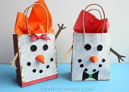 present bags snowman gift bags for kids to make crafty morning