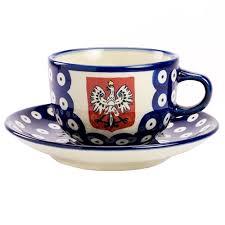 tea cup set center eagle stoneware cup and saucer set