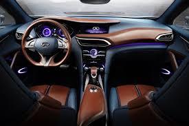Brown Car Interior Infiniti Qx30 Concept Seductive Ruggedness