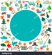 gardening icon set garden orchard collection stock vector