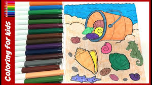 summer coloring sheets coloring pages on the beach for kids