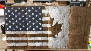 Wooden American Flag Wall Hanging Barn Board Flags M Jones Creations
