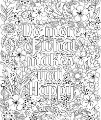 printable u0027do happy u0027 flower design coloring
