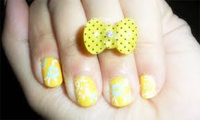 very easy yellow nail art designs u0026 ideas 2013 2014 for beginners