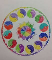 my high art room finished radial design color wheels