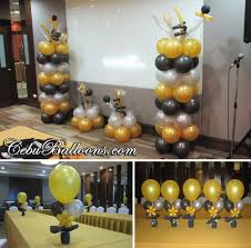 gold black u0026 silver balloons for hallar u0026 associates christmas
