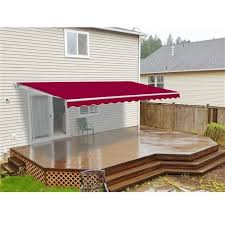 Hand Crank Retractable Awnings Aleko Retractable Motorized Patio 16ft W X 10ft D Awning