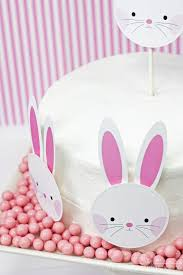 easter bunny cake topper easter printables bunny face and