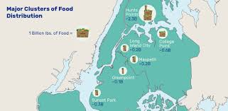 New York Borough Map by Food Flows In New York Flows Modelling Mobility