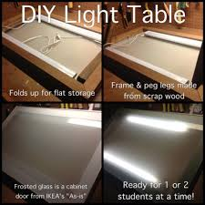 Drafting Table Lamps by Diy Light Table Art Room Pizzazz Pinterest Diy Light Table