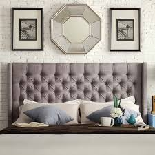 wingback tufted headboard for beautiful linen nail button tufted