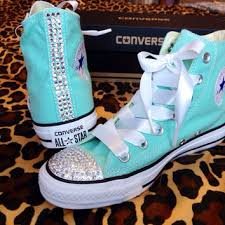 ribbon shoelaces rhinestone high top converse with ribbon from conversecustomized