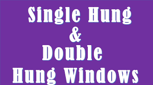 difference between single hung and double hung windows single