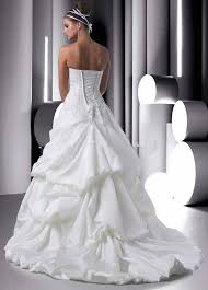 wedding dress with bubble hem