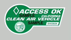 california u0027s green hov lane stickers available again