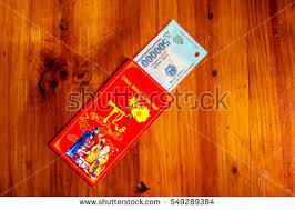 tet envelopes habit custom on tet lucky stock photo 549289384