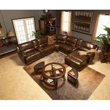 El Dorado Furniture Living Room Sets Theodore Brown Power Motion Leather Sofa W Right Chaise El