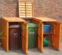 Backyard Garbage Cans by Just Might Have To Build Something Like This To Hide Ugly City