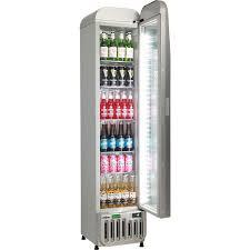 tropical triple glazed door upright skinny commercial bar fridge