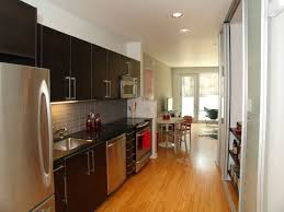 best galley kitchen modern galley kitchen design using polished