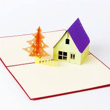 hourse u0026 tree 3d laser cut pop up paper handmade postcards custom