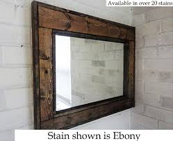 renewed décor herringbone reclaimed wood mirror in 20