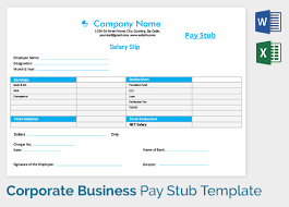 pay stub template 17 free samples examples u0026 formats download