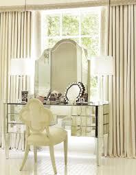 Mirrored Vanity Bench Furniture Outstanding Bedroom Decoration With Black Wood Makeup