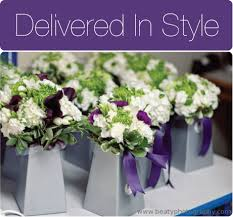 wedding flowers delivery revel purple iris flower arrangement wedding table decor