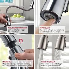 Amazon Delta Kitchen Faucets Delta Faucet 9159 Cz Dst Trinsic Single Handle Pull Down Kitchen