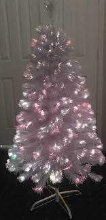 4 foot white fiber optic tree ariticial tree