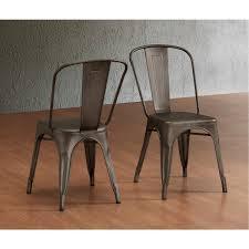 industrial vintage style steel metal bar side chairs antique