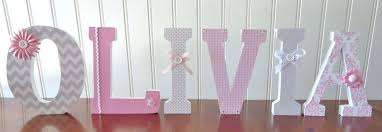 Nursery Wall Decor Letters Wall Letters For Nursery Custom Decorative Wall Letters Nursery